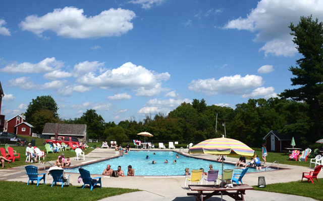 Pool Time at Granite Hill Camping Resort